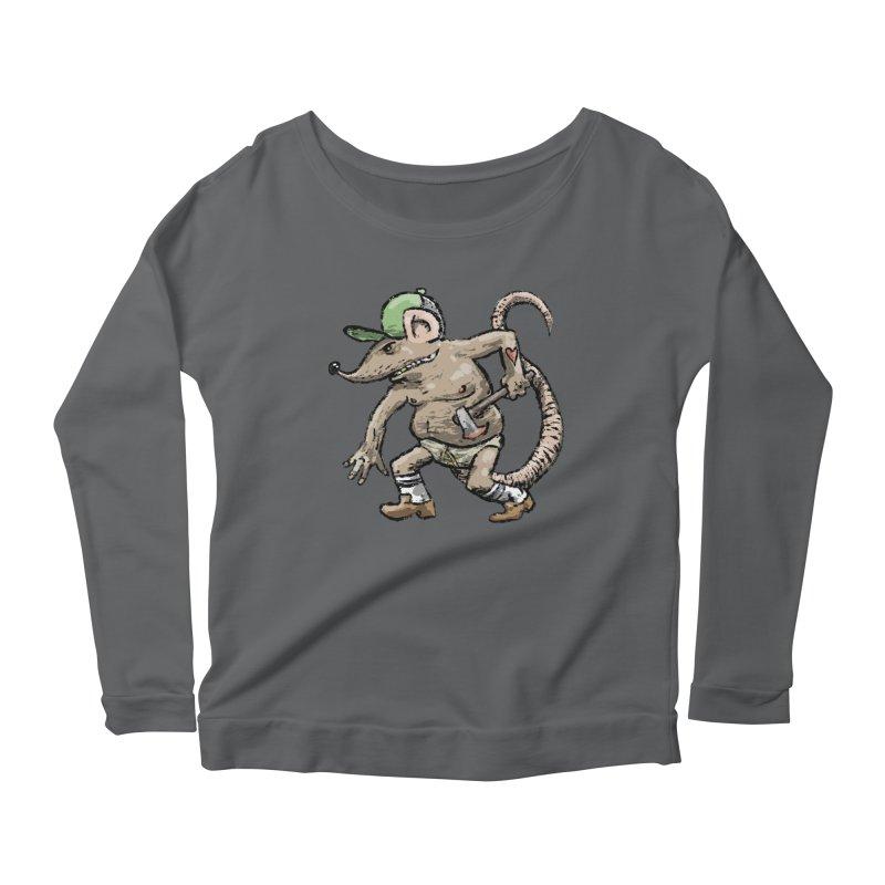 Axe to Grind Women's Scoop Neck Longsleeve T-Shirt by Wander Lane Threadless Shop