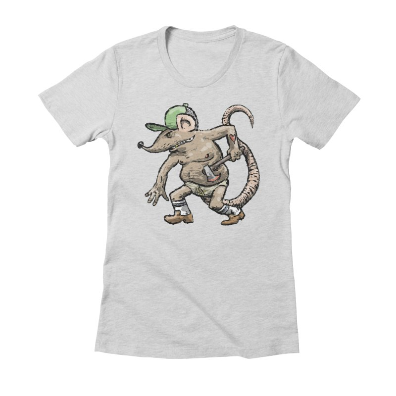 Axe to Grind Women's Fitted T-Shirt by Wander Lane Threadless Shop