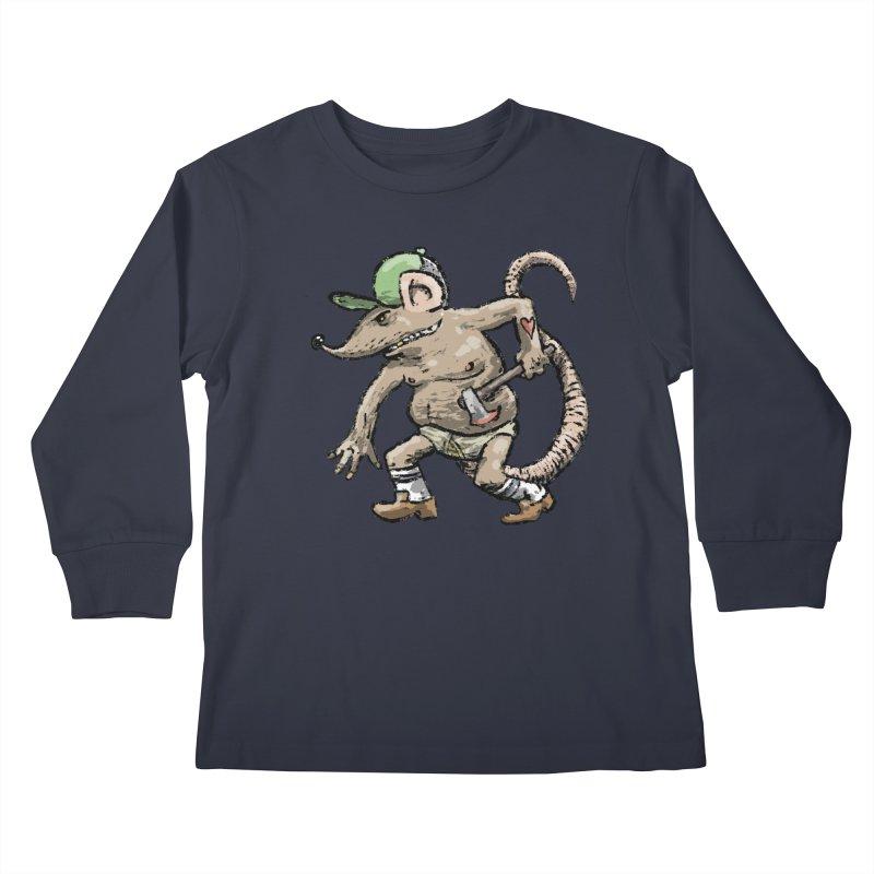 Axe to Grind Kids Longsleeve T-Shirt by Wander Lane Threadless Shop