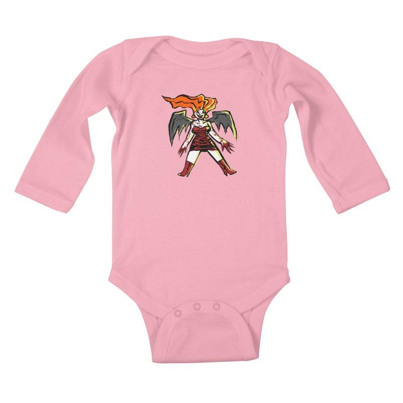 Draculaura Kids Baby Longsleeve Bodysuit by Wander Lane Threadless Shop