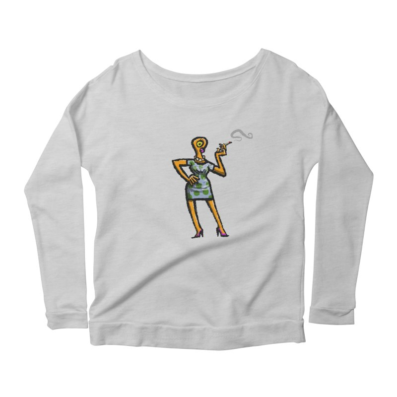 The Girl in Apartment 1I Women's Scoop Neck Longsleeve T-Shirt by Wander Lane Threadless Shop