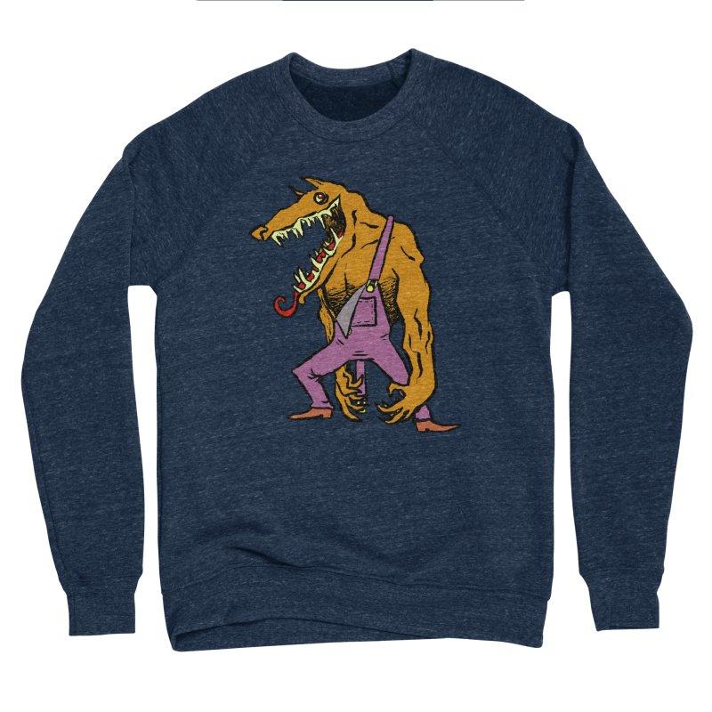 Over Therewolf Men's Sponge Fleece Sweatshirt by Wander Lane Threadless Shop