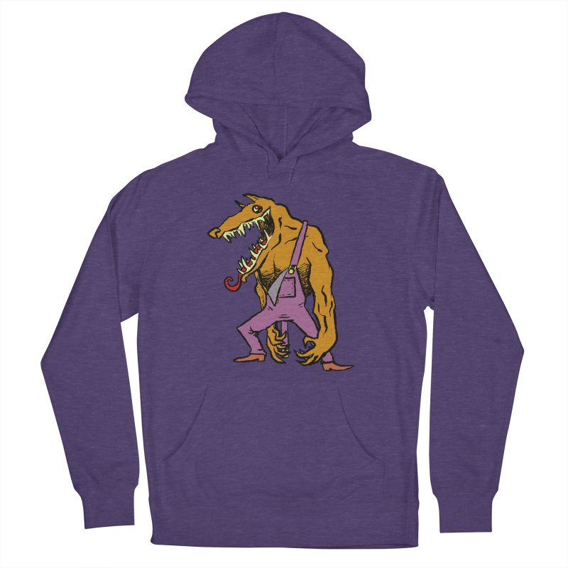 Over Therewolf Women's French Terry Pullover Hoody by Wander Lane Threadless Shop