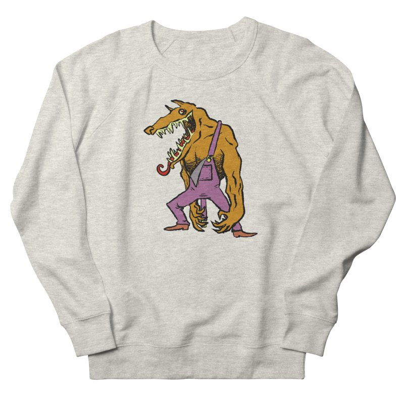 Over Therewolf Men's French Terry Sweatshirt by Wander Lane Threadless Shop