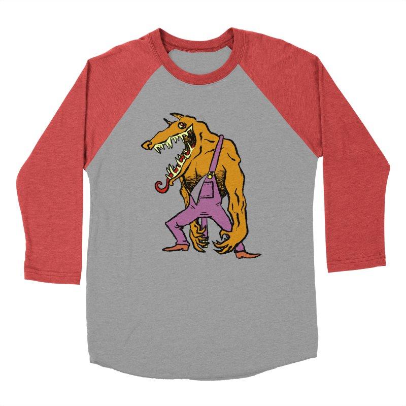 Over Therewolf Women's Baseball Triblend Longsleeve T-Shirt by Wander Lane Threadless Shop