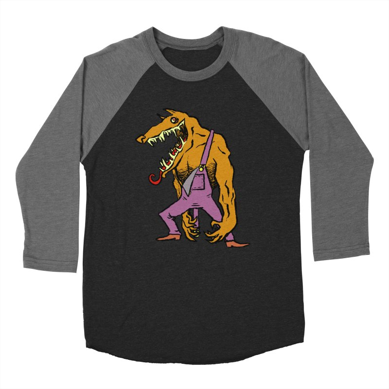Over Therewolf Men's Baseball Triblend Longsleeve T-Shirt by Wander Lane Threadless Shop