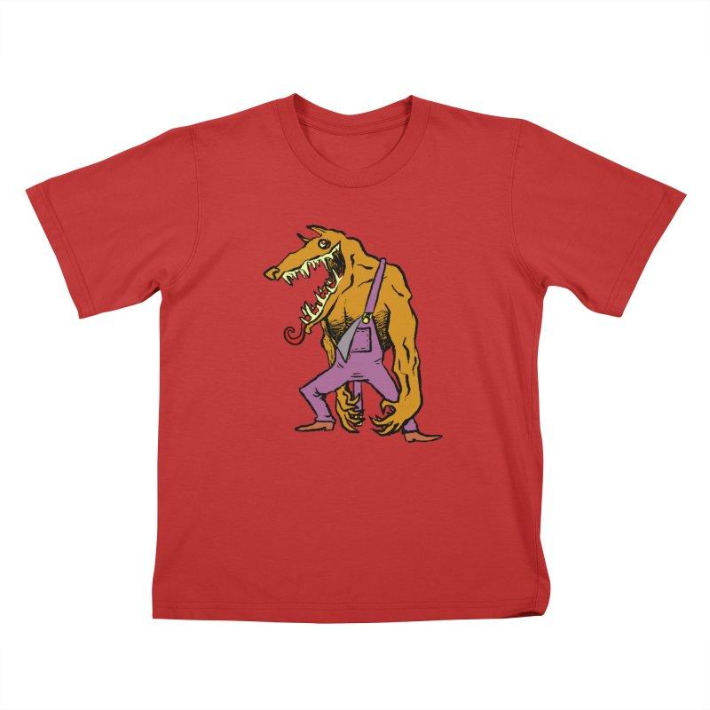 Over Therewolf Kids T-Shirt by Wander Lane Threadless Shop
