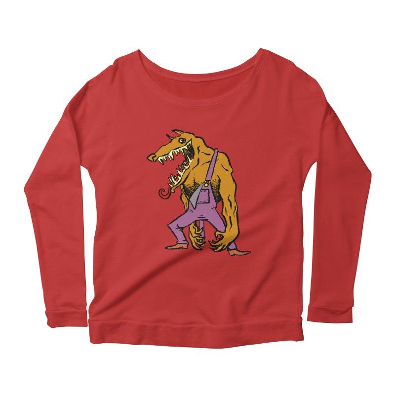 Over Therewolf Women's Scoop Neck Longsleeve T-Shirt by Wander Lane Threadless Shop