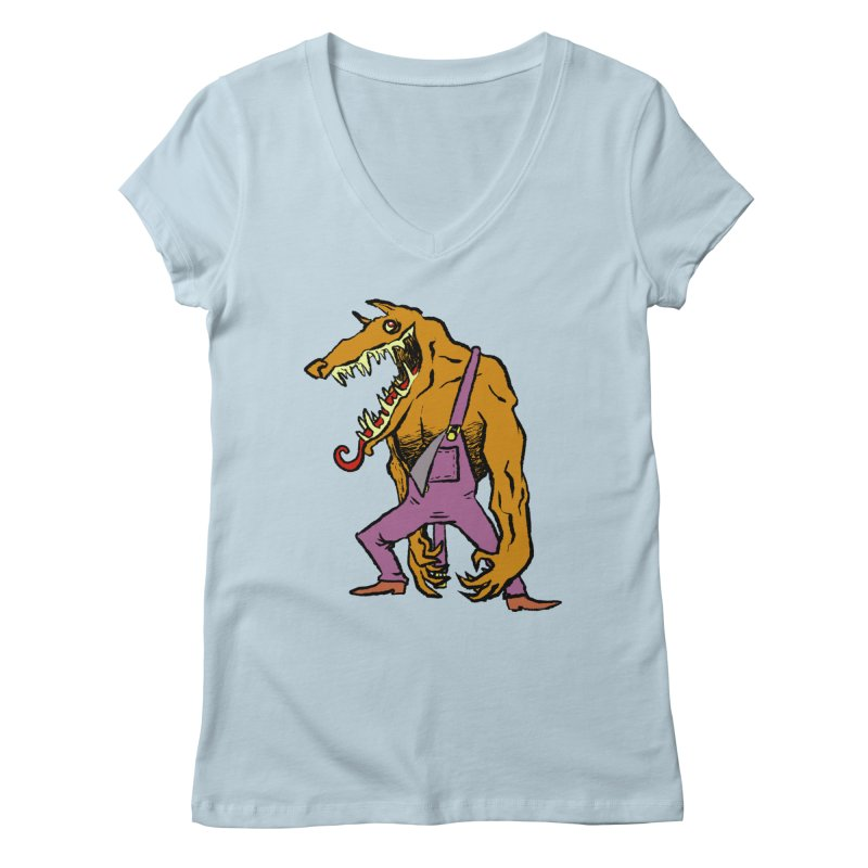 Over Therewolf Women's Regular V-Neck by Wander Lane Threadless Shop