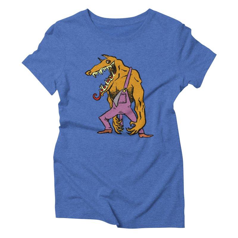 Over Therewolf Women's Triblend T-Shirt by Wander Lane Threadless Shop