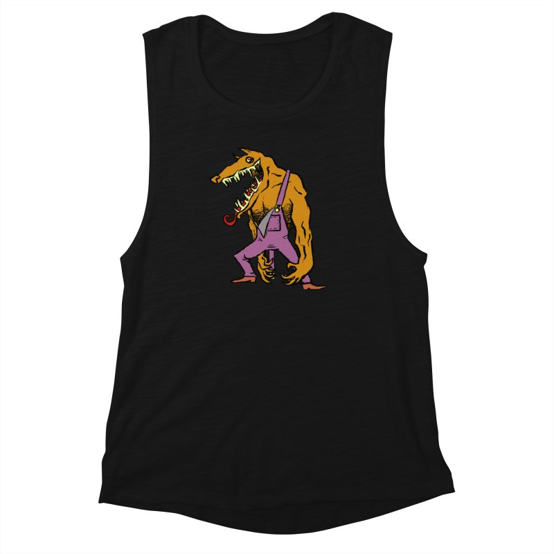 Over Therewolf Women's Muscle Tank by Wander Lane Threadless Shop