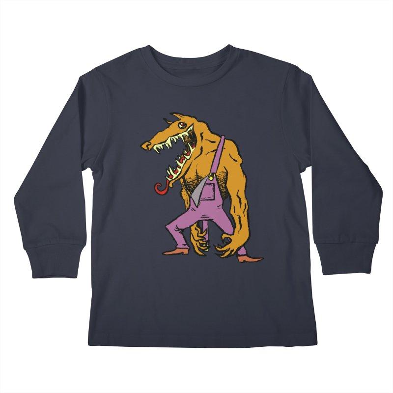 Over Therewolf Kids Longsleeve T-Shirt by Wander Lane Threadless Shop