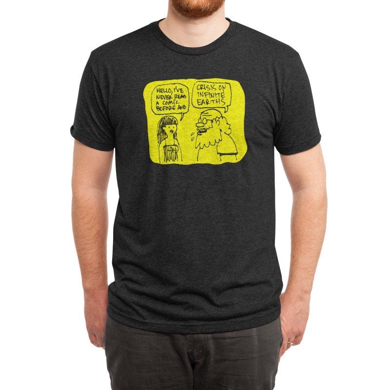 CRISIS ON INFINITE EARTHS #2 Men's T-Shirt by Wander Lane Threadless Shop