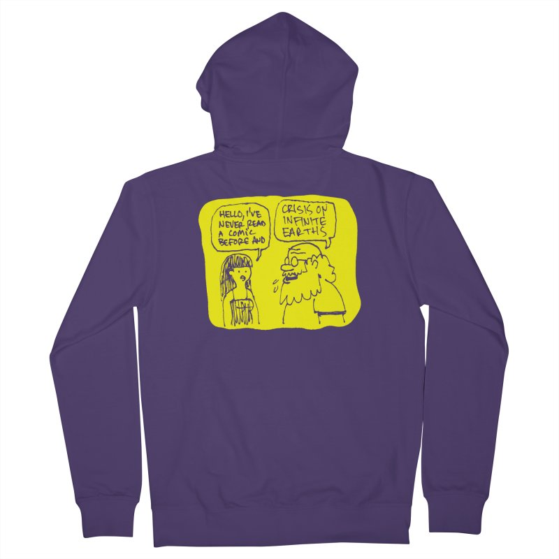 CRISIS ON INFINITE EARTHS #2 Women's French Terry Zip-Up Hoody by Wander Lane Threadless Shop