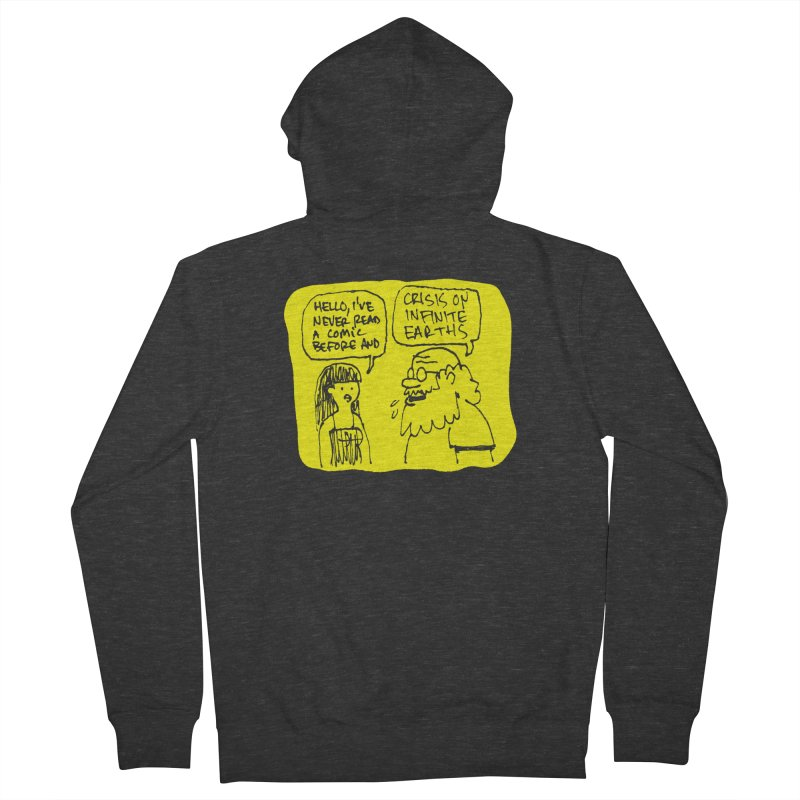 CRISIS ON INFINITE EARTHS #2 Men's French Terry Zip-Up Hoody by Wander Lane Threadless Shop