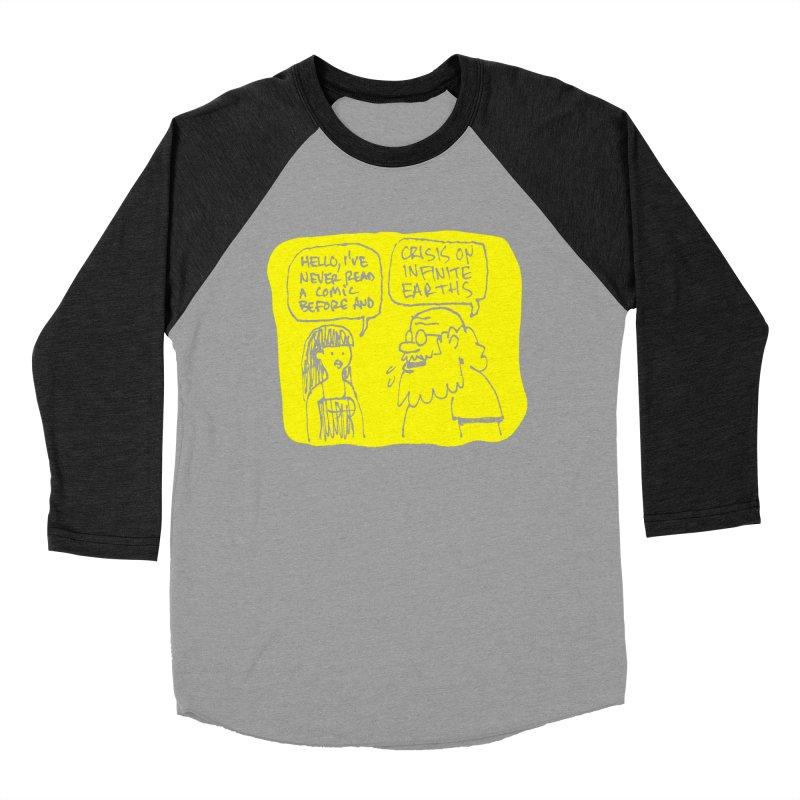 CRISIS ON INFINITE EARTHS #2 Women's Baseball Triblend Longsleeve T-Shirt by Wander Lane Threadless Shop