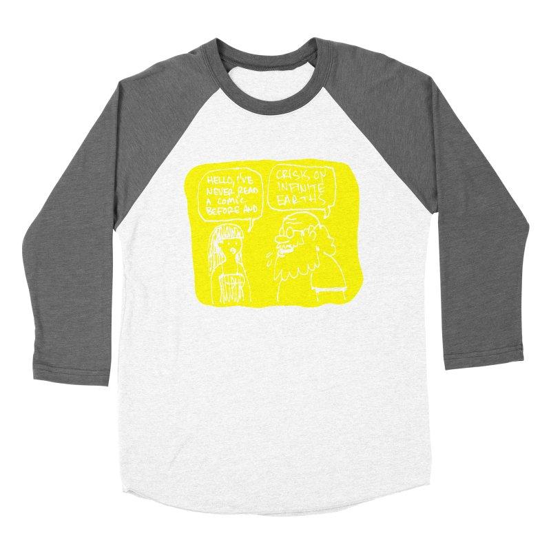 CRISIS ON INFINITE EARTHS #2 Men's Baseball Triblend Longsleeve T-Shirt by Wander Lane Threadless Shop