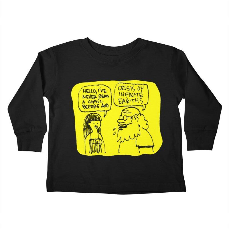 CRISIS ON INFINITE EARTHS #2 Kids Toddler Longsleeve T-Shirt by Wander Lane Threadless Shop