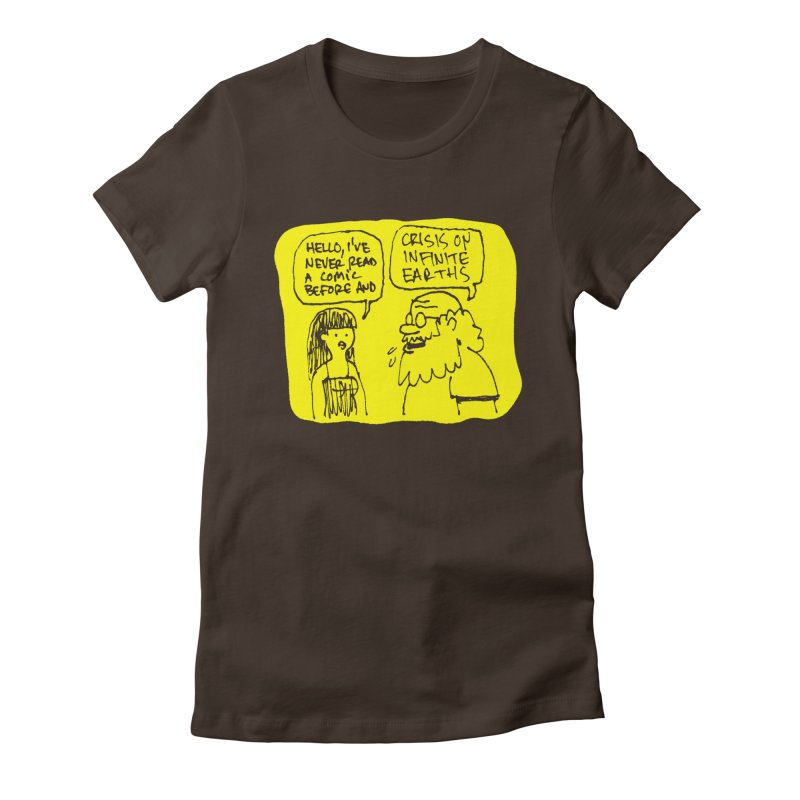 CRISIS ON INFINITE EARTHS #2 Women's Fitted T-Shirt by Wander Lane Threadless Shop