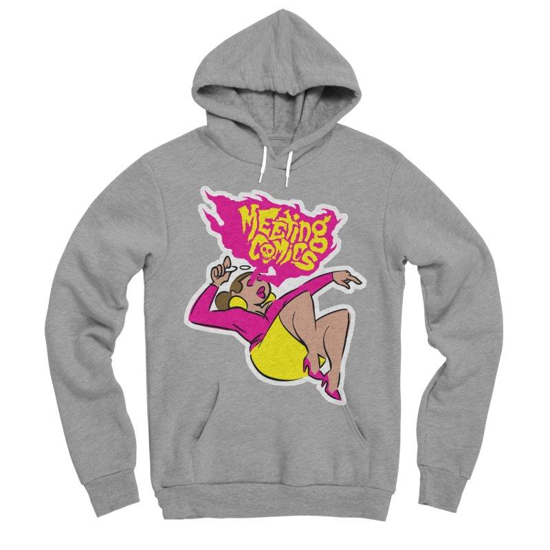 Meeting Comics: Val Women's Sponge Fleece Pullover Hoody by Wander Lane Threadless Shop