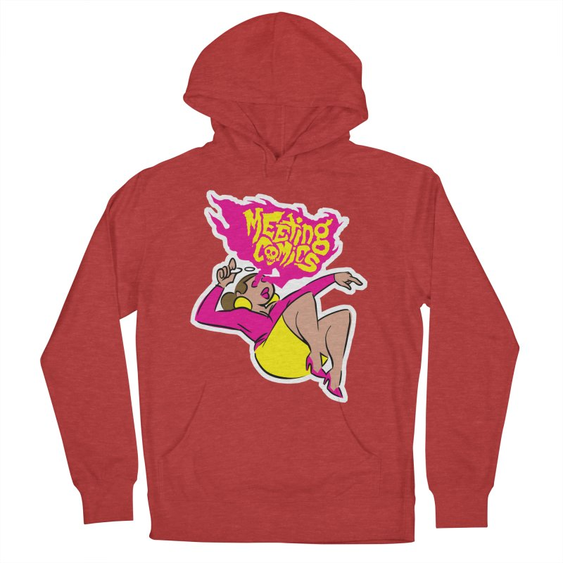 Meeting Comics: Val Men's French Terry Pullover Hoody by Wander Lane Threadless Shop