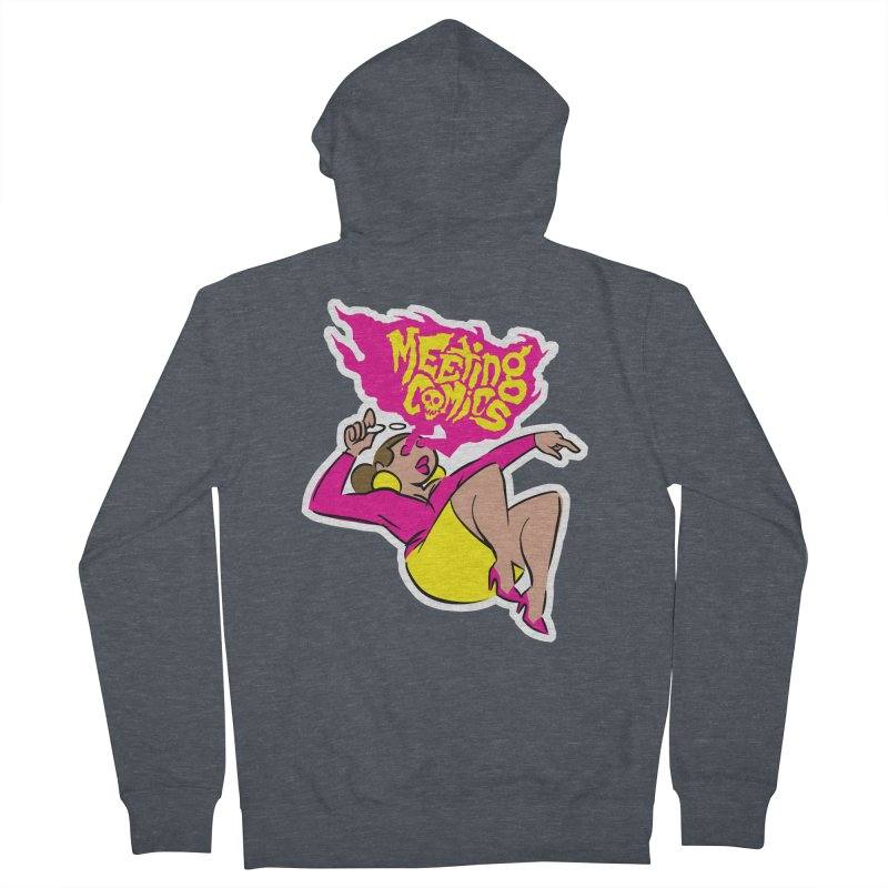 Meeting Comics: Val Men's French Terry Zip-Up Hoody by Wander Lane Threadless Shop