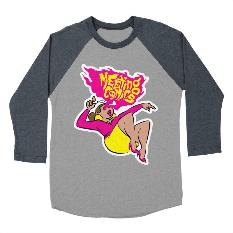 Meeting Comics: Val Women's Baseball Triblend Longsleeve T-Shirt by Wander Lane Threadless Shop
