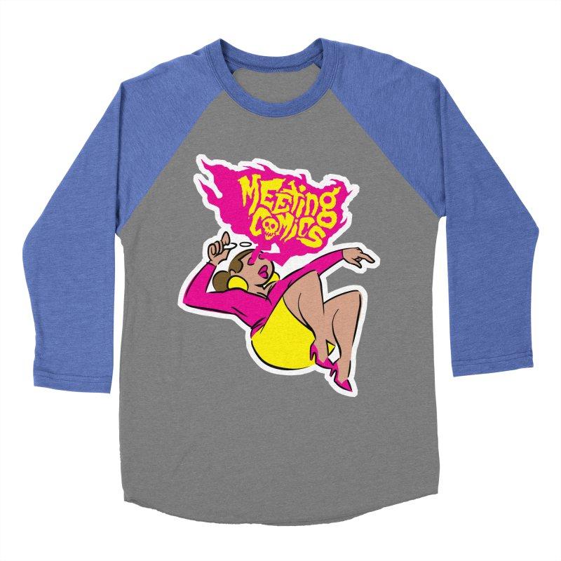 Meeting Comics: Val Men's Baseball Triblend Longsleeve T-Shirt by Wander Lane Threadless Shop