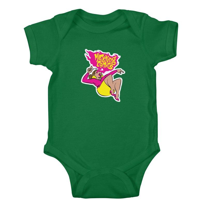 Meeting Comics: Val Kids Baby Bodysuit by Wander Lane Threadless Shop