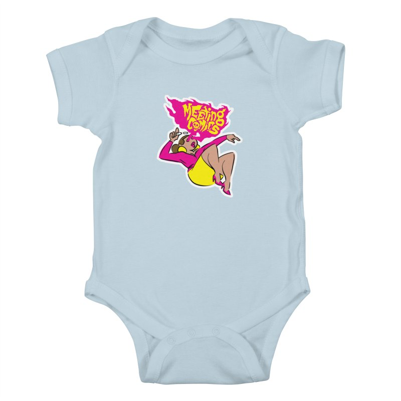 Meeting Comics: Val Kids Baby Bodysuit by Wander Lane Threadless Shop