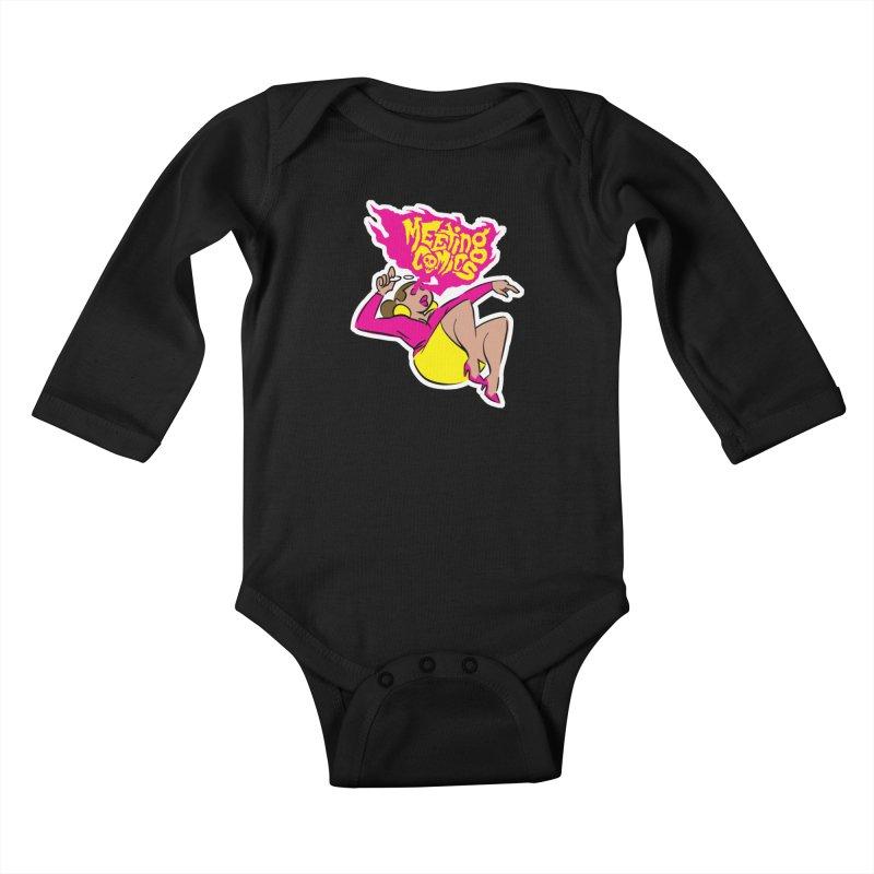 Meeting Comics: Val Kids Baby Longsleeve Bodysuit by Wander Lane Threadless Shop