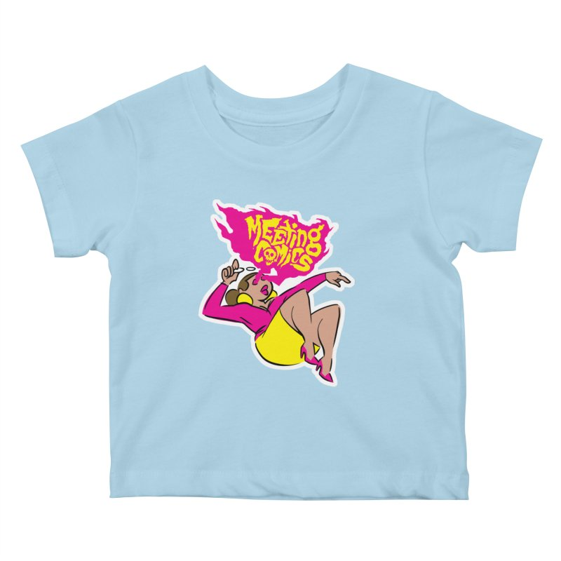 Meeting Comics: Val Kids Baby T-Shirt by Wander Lane Threadless Shop