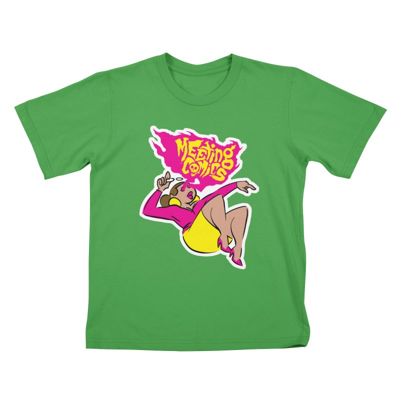 Meeting Comics: Val Kids T-Shirt by Wander Lane Threadless Shop