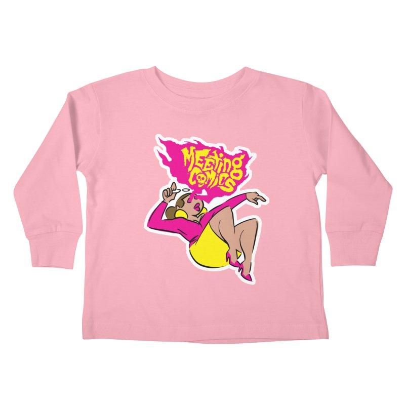 Meeting Comics: Val Kids Toddler Longsleeve T-Shirt by Wander Lane Threadless Shop