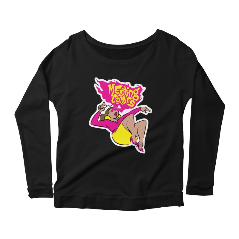 Meeting Comics: Val Women's Scoop Neck Longsleeve T-Shirt by Wander Lane Threadless Shop