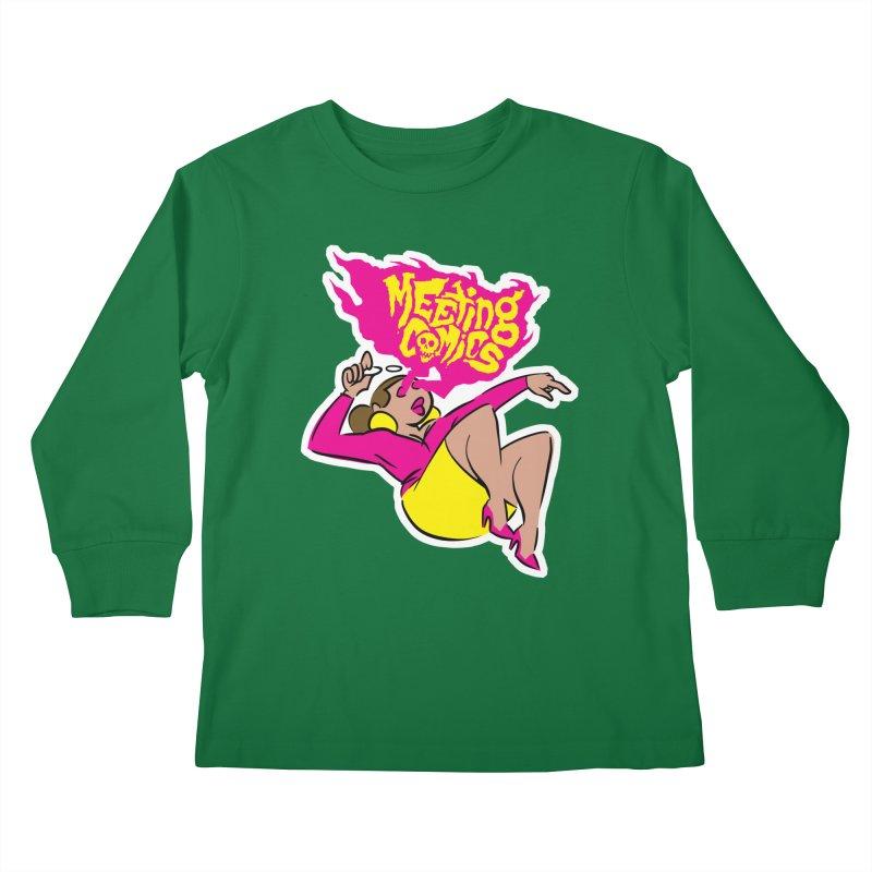 Meeting Comics: Val Kids Longsleeve T-Shirt by Wander Lane Threadless Shop
