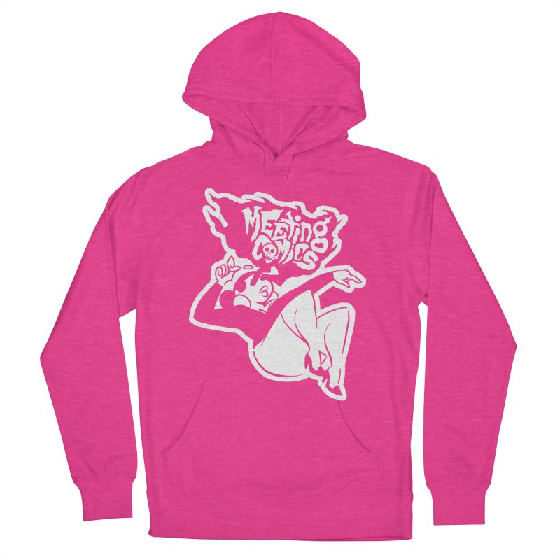 Meeting Comics: Val Single Color Print Women's French Terry Pullover Hoody by Wander Lane Threadless Shop