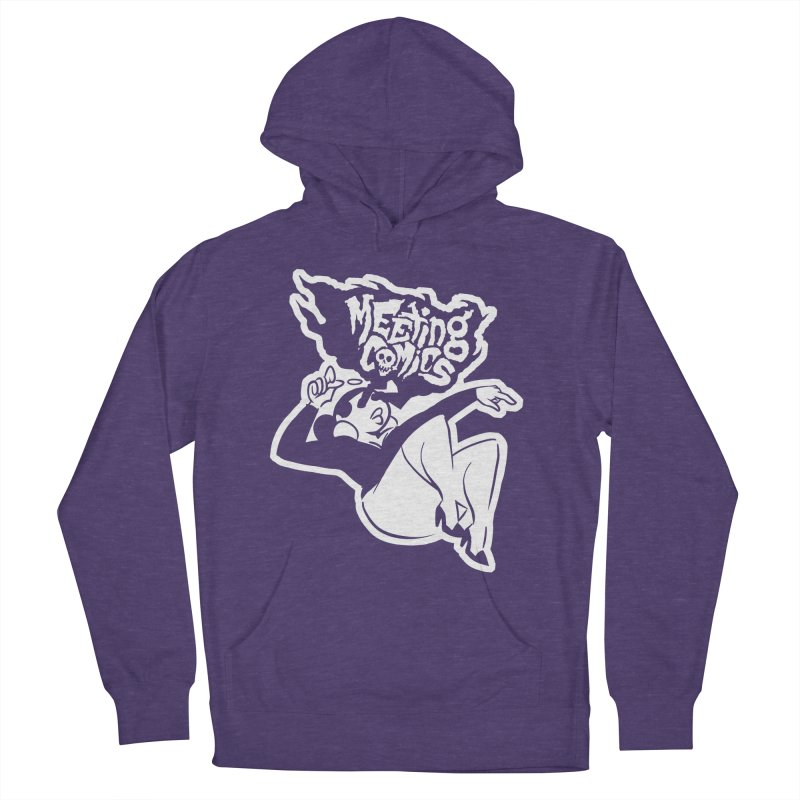 Meeting Comics: Val Single Color Print Men's French Terry Pullover Hoody by Wander Lane Threadless Shop
