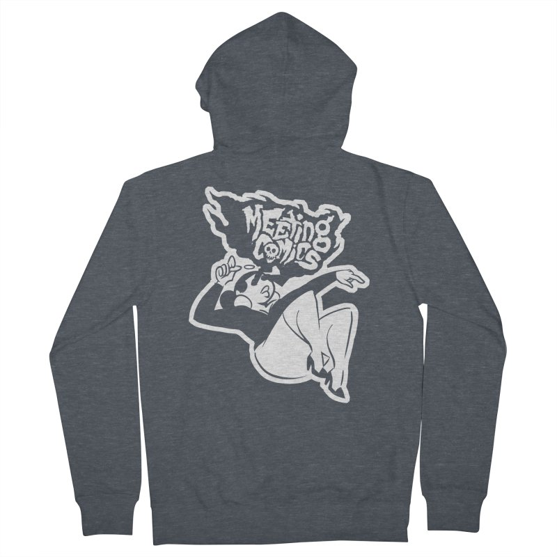 Meeting Comics: Val Single Color Print Men's French Terry Zip-Up Hoody by Wander Lane Threadless Shop