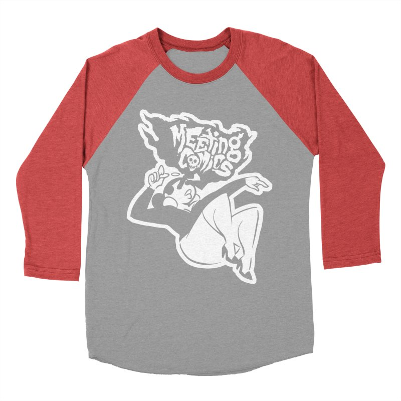 Meeting Comics: Val Single Color Print Men's Baseball Triblend Longsleeve T-Shirt by Wander Lane Threadless Shop