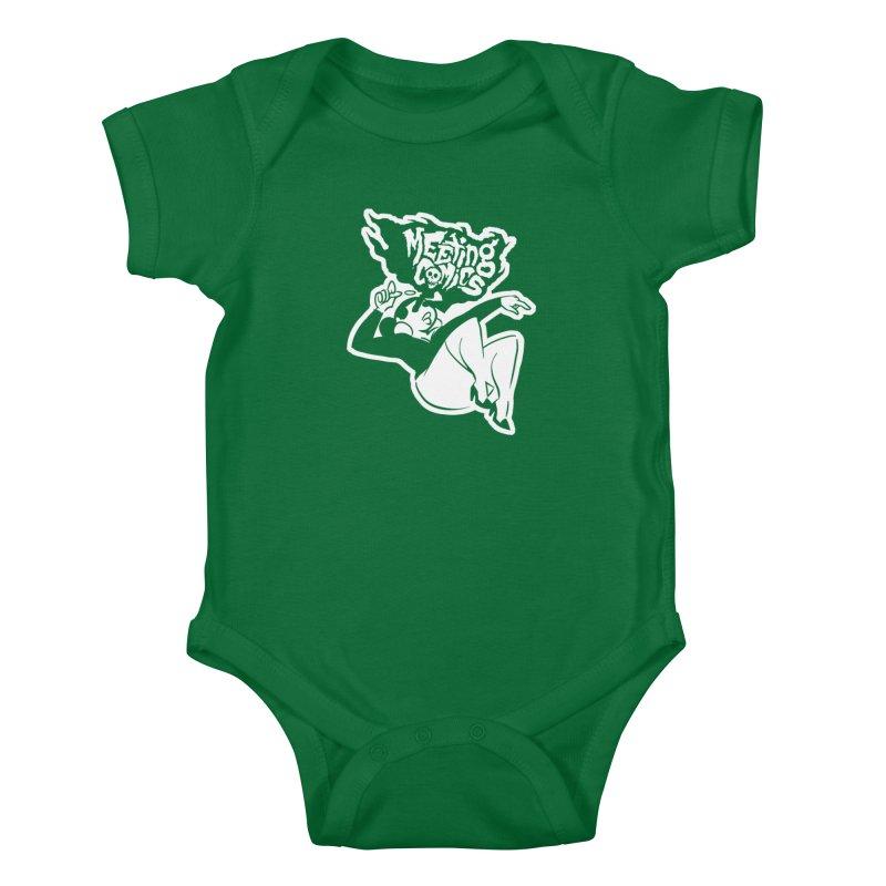 Meeting Comics: Val Single Color Print Kids Baby Bodysuit by Wander Lane Threadless Shop