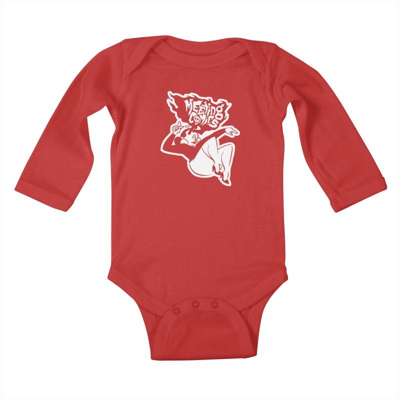 Meeting Comics: Val Single Color Print Kids Baby Longsleeve Bodysuit by Wander Lane Threadless Shop