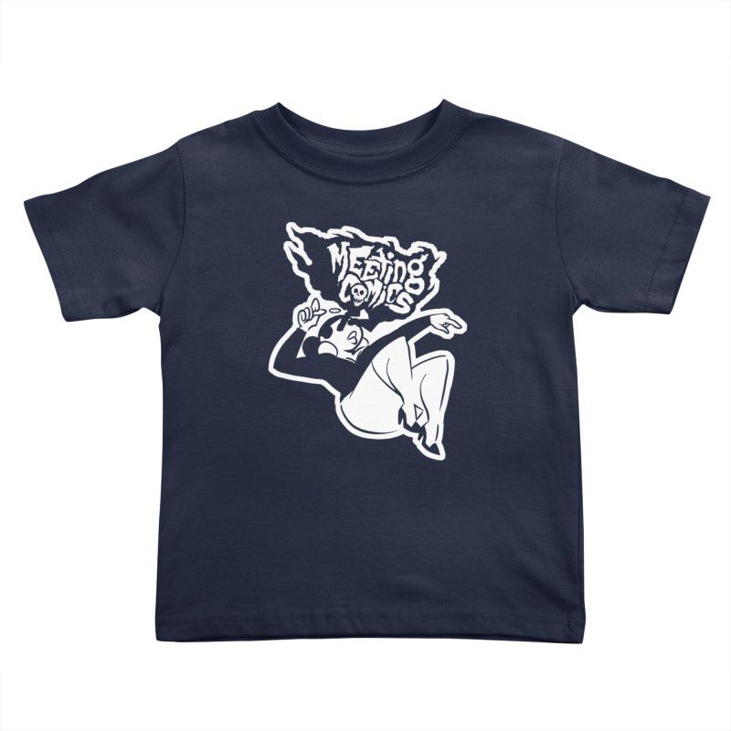 Meeting Comics: Val Single Color Print Kids Toddler T-Shirt by Wander Lane Threadless Shop