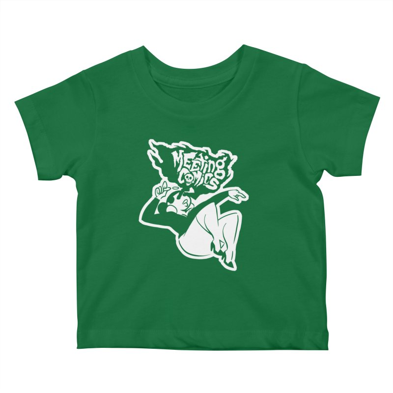 Meeting Comics: Val Single Color Print Kids Baby T-Shirt by Wander Lane Threadless Shop