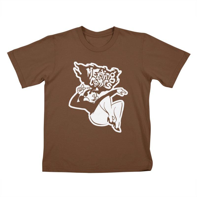 Meeting Comics: Val Single Color Print Kids T-Shirt by Wander Lane Threadless Shop