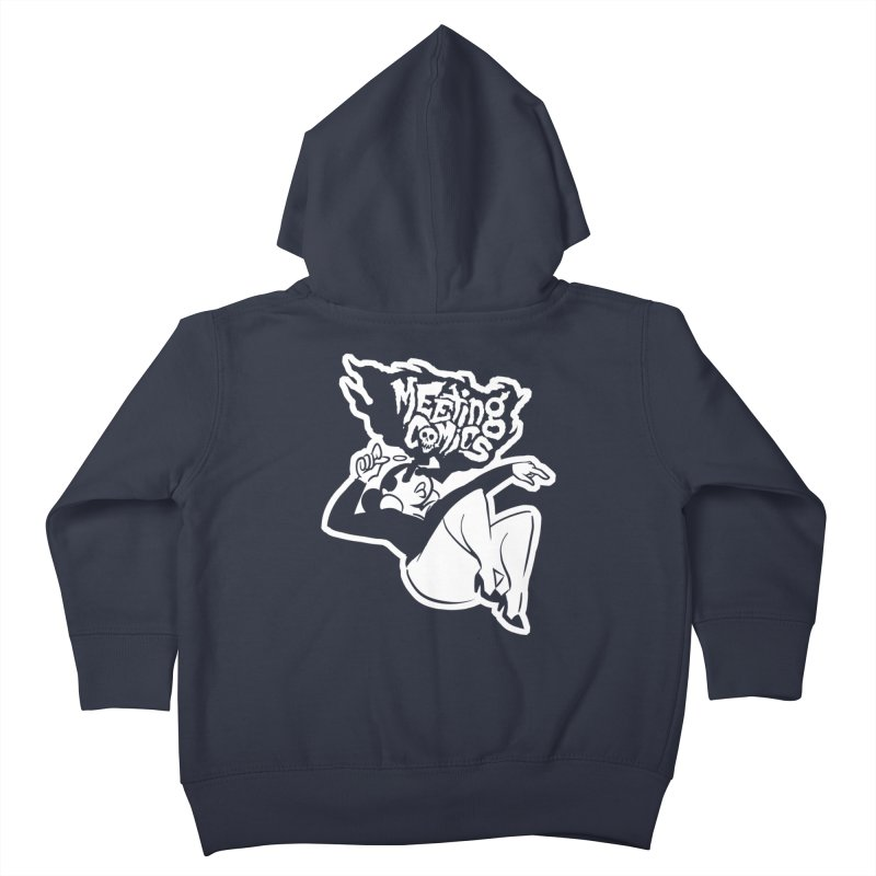 Meeting Comics: Val Single Color Print Kids Toddler Zip-Up Hoody by Wander Lane Threadless Shop