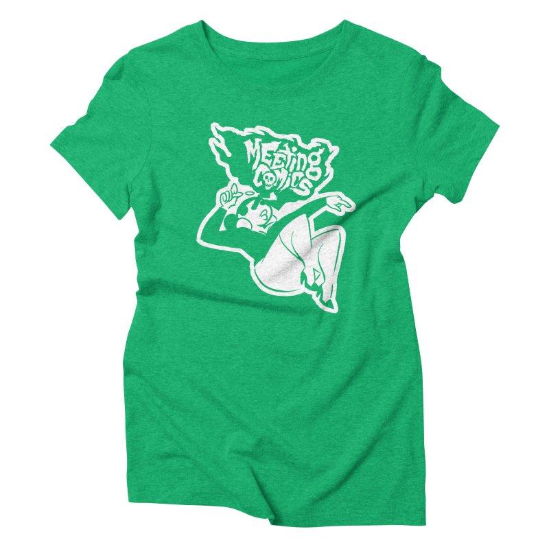 Meeting Comics: Val Single Color Print Women's Triblend T-Shirt by Wander Lane Threadless Shop
