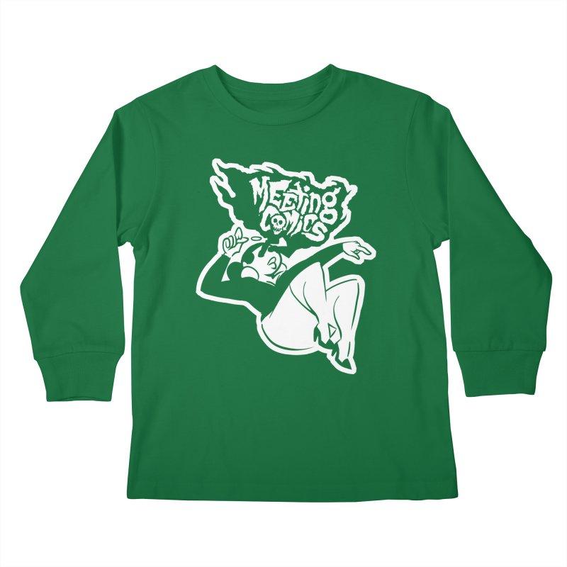 Meeting Comics: Val Single Color Print Kids Longsleeve T-Shirt by Wander Lane Threadless Shop