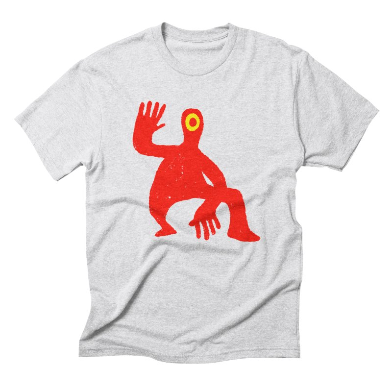 Pleased to Meet You in Men's Triblend T-Shirt Heather White by Wander Lane Threadless Shop