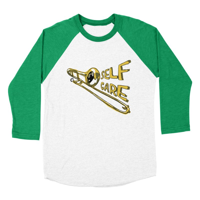 SELF CARE Men's Baseball Triblend Longsleeve T-Shirt by Wander Lane Threadless Shop
